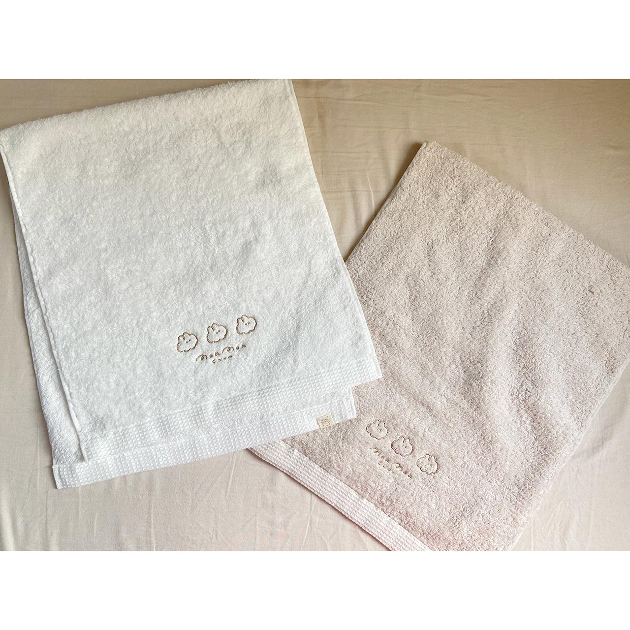 なでウサ刺繍今治産タオル3種発売