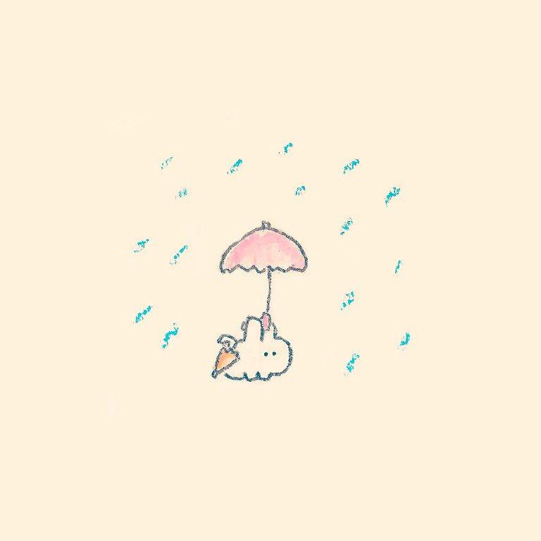 もくもくちゃんアーカイブス・6『傘を忘れた人が通りかかったら傘をあげようと思って待っているウサギ』