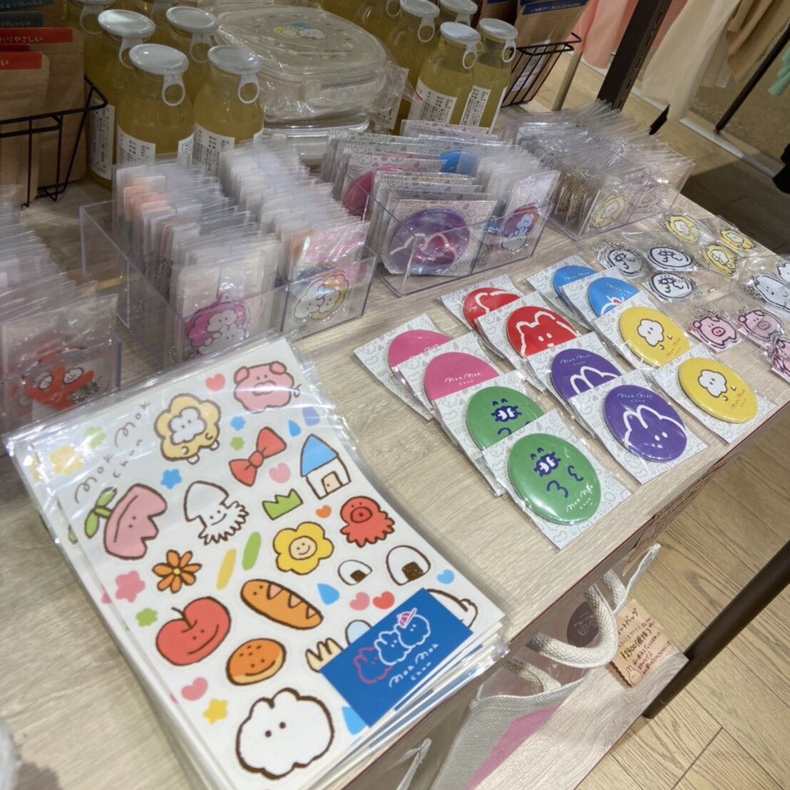 新宿丸井もくもくちゃんポップアップショップ、店内模様替えしました!