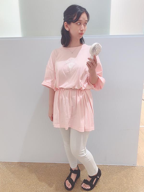 【Tシャツフェア対象】なでウサお花Teeワンピ(MK-163)