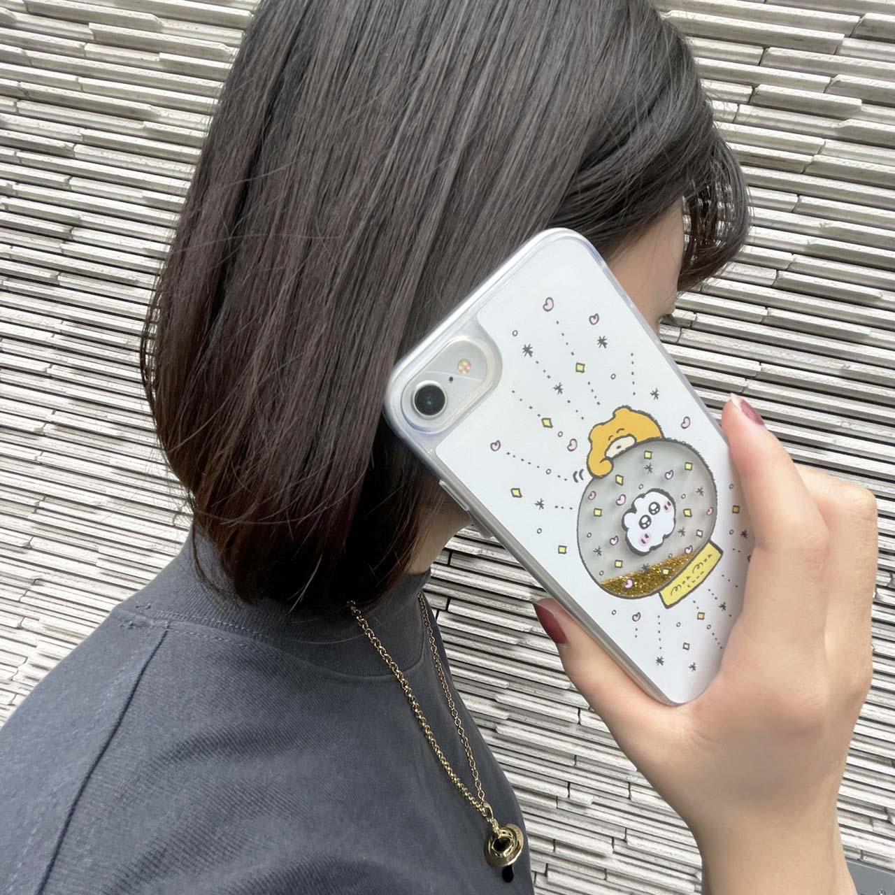 キラキラスノードームiPhoneケース(はじめてのなでなで)